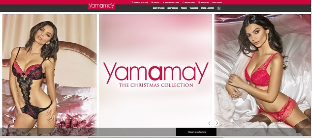 Yamamay home page del sito