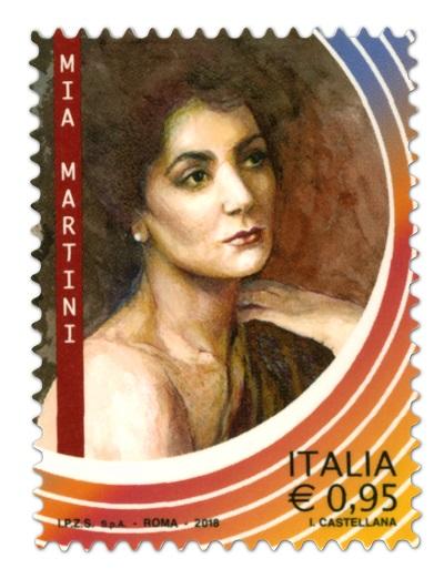 Mia Martini cantante francobollo commemorativo Poste italiane Eccellenze Italiane Spettacolo Festival San Remo 2018